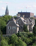 Photo of rear of 24, Sussex Drive. Image covered by GNU Free Documentation License